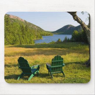 Las sillas de Adirondack en el césped de la Jordan Tapetes De Ratones
