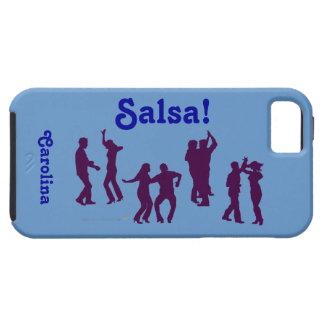 Las siluetas de los bailarines de la salsa iPhone 5 carcasas