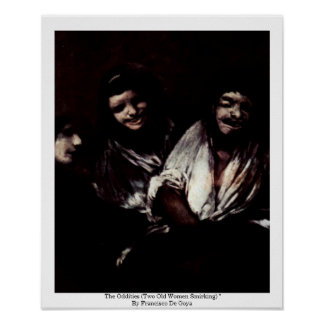 Las singularidades (dos mujeres mayores Smirking)  Posters