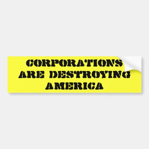 Las SOCIEDADES están destruyendo América Pegatina De Parachoque