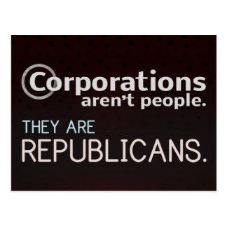 Las sociedades no son gente. Son republicanos Tarjeta Postal