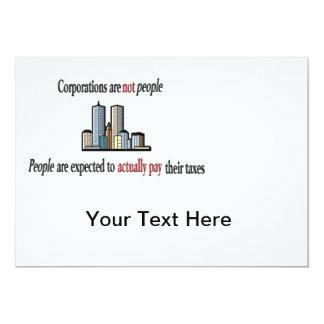 Las sociedades no son invitación de la gente invitación 12,7 x 17,8 cm
