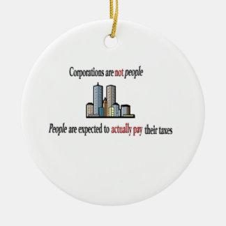 Las sociedades no son ornamento de la gente adorno navideño redondo de cerámica