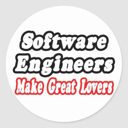 Las Software Engineers hacen a grandes amantes Pegatina Redonda
