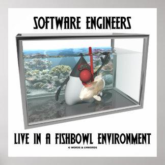Las Software Engineers viven en un ambiente de Fis Posters