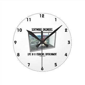Las Software Engineers viven en un ambiente de Fis Relojes De Pared