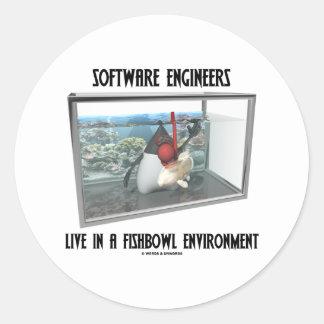 Las Software Engineers viven en un ambiente de Pegatinas Redondas