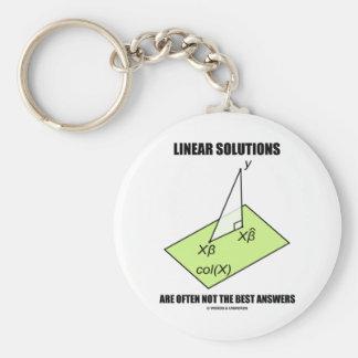 Las soluciones lineares no son a menudo las mejore llavero redondo tipo pin