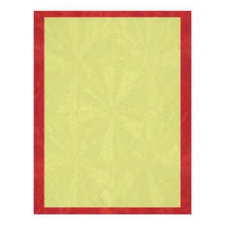 Las sombras del amarillo rojo - añada su imagen de membrete personalizado