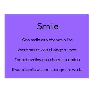 Las sonrisas cambian el mundo tarjeta postal