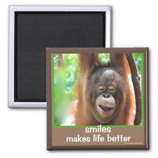 Las sonrisas hacen vida mejor imanes