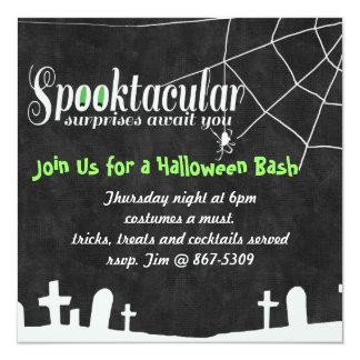 """Las sorpresas Halloween de Spooktacular invitan Invitación 5.25"""" X 5.25"""""""