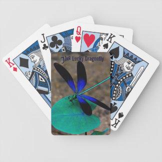 Las tarjetas afortunadas del juego de la libélula barajas de cartas