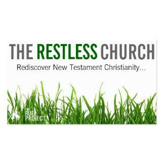 Las tarjetas agitadas de la iglesia tarjeta personal