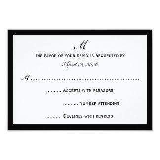 Las tarjetas baratas de la invitación de RSVP