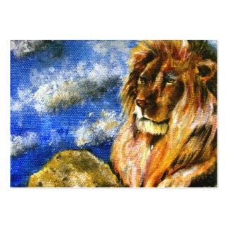 Las tarjetas de comercio reales del arte del león tarjetas de visita grandes