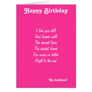 las tarjetas de cumpleaños Ex-marido-más estimadas