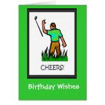 ¡Las tarjetas de cumpleaños Golfing, gané!