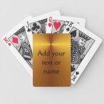 Las tarjetas de encargo de la mirada metálica del  cartas de juego
