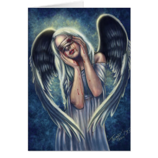 Las tarjetas de felicitación heridas del ángel