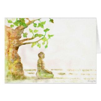 Las tarjetas de felicitaciones del árbol de Bodhi