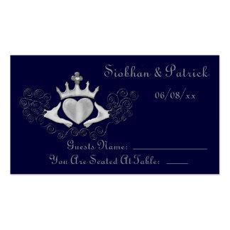 Las tarjetas de la colocación de Claddagh (plata) Tarjetas De Visita