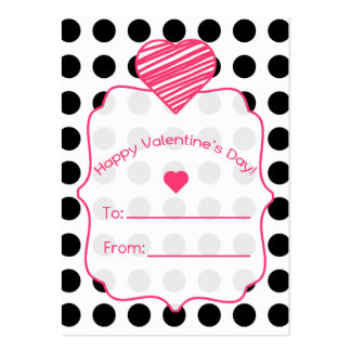 Las tarjetas de la tarjeta del día de San Valentín Tarjetas De Visita Grandes
