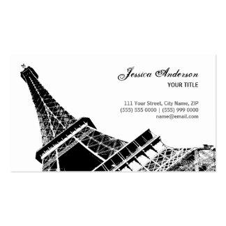 Las tarjetas de visita de la torre Eiffel