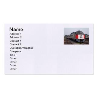 Las tarjetas de visita determinadas del tren de