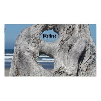 Las tarjetas de visita jubiladas iRetired el océan