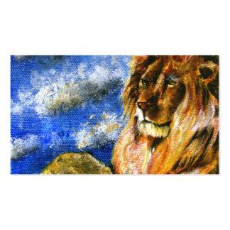 Las tarjetas de visita reales del león