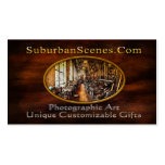 las tarjetas de visita suburbanas de las escenas -
