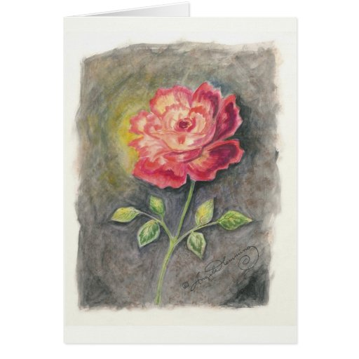 Las tarjetas del arte del rosa rojo y amarillo