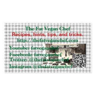 Las tarjetas del cocinero del vegano de la grasa plantillas de tarjeta de negocio