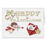 Las tarjetas del día de San Valentín felices sean
