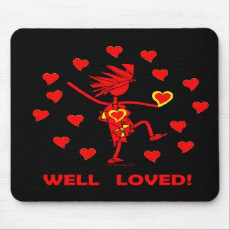 Las tarjetas del día de San Valentín manan amado Tapetes De Ratones