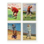 Las tarjetas del vintage 20s de la voluntad Golfin Tarjeta Postal