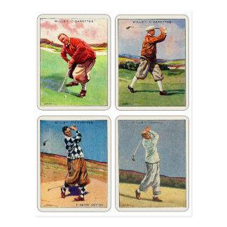 Las tarjetas del vintage 20s de la voluntad postales