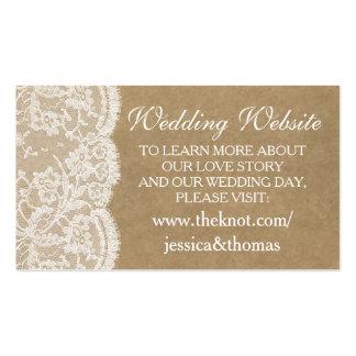 Las tarjetas del Web site de la colección del boda Tarjetas De Visita