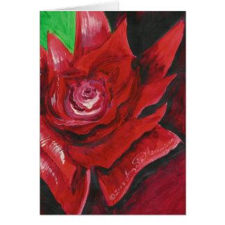 Las tarjetas intrépidas del arte del rosa rojo