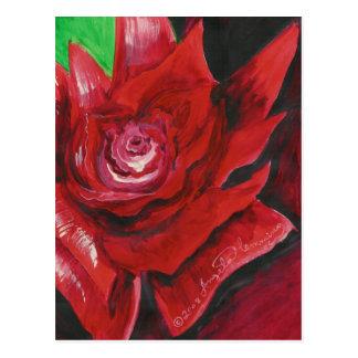 Las tarjetas intrépidas del arte del rosa rojo postal