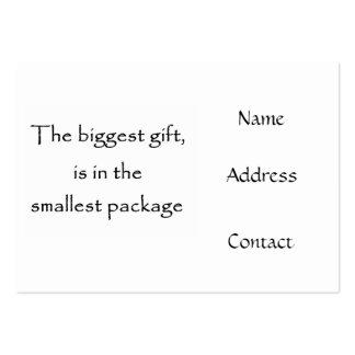 Las tarjetas más grandes del regalo-negocio tarjetas de visita grandes