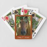 Las tarjetas que juegan del caballo de Brown perso Cartas De Juego