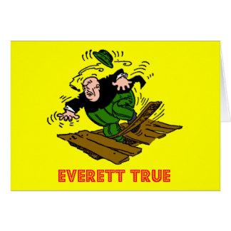 Las tarjetas verdaderas Niza de un viaje de Everet