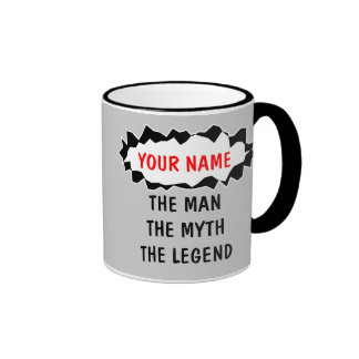 Las tazas de café de la leyenda del mito del hombr