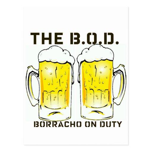 """Las tazas de cerveza de servicio de """"Borracho del  Postal"""
