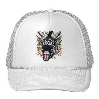 Las tazas de risa de la cebra gorras