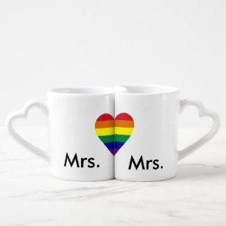 Las tazas del amante lesbiano tazas para enamorados