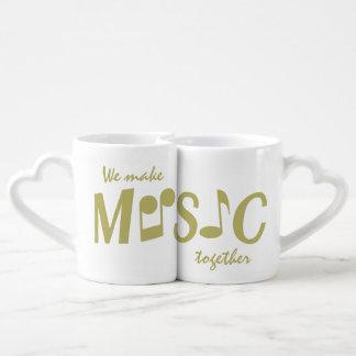 Las tazas del par de encargo de la MÚSICA Tazas Para Parejas