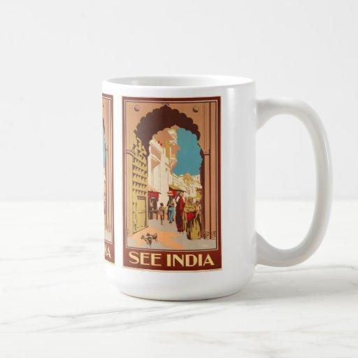 Las tazas del poster del viaje de la India - elija